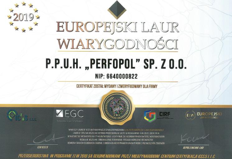 Europejskie Laur Wiarygodności